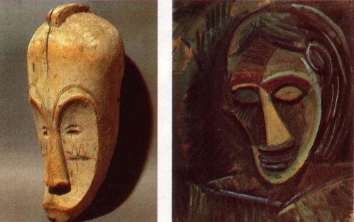 maschera Gabon / Picasso, Testa femminile